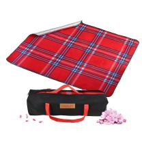 "CHRALIFE Picnic Blanket Waterproof Large Thick Foldable Light Weight with Soft Fleece for Outdoor Camping Beach Hiking Backpacking Traveling Park Sporting Events with Bag 59"" x 78"""