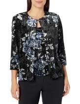 Alex Evenings Women's Jacket and Scoop Tank Top Velvet Twinset Petite Regular