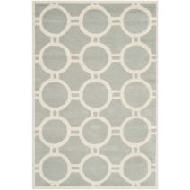 Safavieh Chatham Collection CHT739E Handmade Grey and Ivory Premium Wool Area Rug (3' x 5')