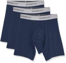 Good Brief Men's Cotton Stretch Long Leg Boxer Briefs (3-Pack / 5-Pack)