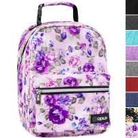 OPUX Premium Insulated Lunch Box for Girls | Durable Leakproof School Lunch Bag with Handle Clip, Mesh Pocket | Reusable Work Lunch Pail Cooler for Adult, Men, Women | Fits 14 Cans (Purple Floral)