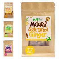 Yuthfarm – Soft Dried Ginger 7 Oz On The Go Pack – Organic Dried Ginger, Dried Fruit Snacks, Non GMO, No Artificial Flavor and Preservatives, Nutritious, Healthy, Unique Ingredient