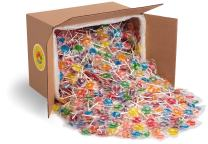 Fruit Lollipops by Candy Creek, Bulk 18 lb. Carton, No Rootbeer, Assorted Flavors