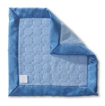 SwaddleDesigns Baby Lovie, Small Security Blanket, Jewel Tone Puff Circles with Satin Trim, Blue