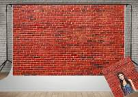Kate 10x6.5ft Red Brick Wall Photography Backdrop Vintage Office Decoration Photo Background for Photography Wrinkles Free