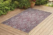 Benissimo Indoor Outdoor Rug Flower G. Collection Non-Skid, Natural Sisal Woven and Jute Backing Area Carpet for Living Room, Bedroom, Kitchen, Entryway, Hallway, Patio, Farmhouse Decor | 8x10, Brick