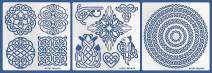 Aleks Melnyk #39 Metal Journal Stencils/Celtic Knot, Round and Dragon/Stainless Steel Stencils Kit 3 PCS/Templates Tool for Wood Burning, Pyrography and Engraving/Scrapbooking/Crafting/DIY