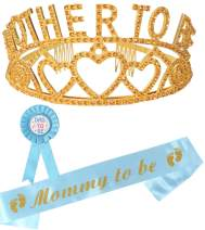 Baby Shower for Boy, Mother to Be Tiara, Mom to Be Sash, Dad to Be Pin, Mother to be Pin, Baby Shower Party Favors Decorations Gift Boy, Baby Shower Favors, It's a Boy, Baby Shower Decoration,