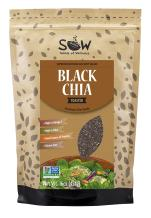 SOW Toasted Black Chia Seed – Sustainable, 99.95% purity, Non-GMO. 16 ounce.