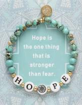 BONALUNA My Wish Hope Mantra 6mm Green Turquoise Color Stone Meditation & Healing Bracelets for Women