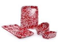 Enamelware Children's First Bake Set, 5 piece, Red/White Splatter