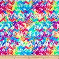 Pine Crest Fabrics Neon Printed Athletic Knit Tracks Fabric, Multi