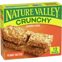 Nature Valley Granola Bars, Crunchy Peanut Butter, 12 bars (Pack of 6)