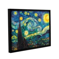 "ArtWall ""Starry Night Floater Framed Gallery-Wrapped Canvas Art by Vincent Van Gogh, 24 by 32-Inch, Holds 22.5 by 30.5-Inch Image"