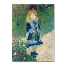 A Girl with a Watering Can 1876 Artwork by Pierre Renoir, 35 by 47-Inch Canvas Wall Art