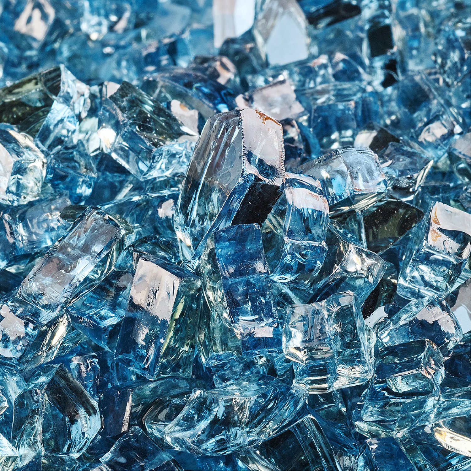 Harbor Mist - Fire Glass for Indoor and Outdoor Fire Pits or Fireplaces | 10 Pounds | 1/4 Inch, Reflective
