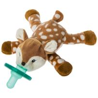 Mary Meyer WubbaNub Soft Toy and Infant Pacifier, Amber Fawn