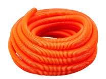"(3/4"" Dia. x 50 ft, Orange) HydroMaxx Flexible Polyethylene Corrugated (PE) Split Tubing (Wire Loom)"