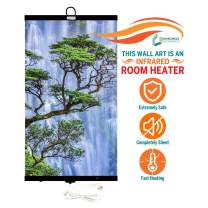Invroheat - Decorative Wall Hanging Infrared Space Heater/Portable Heater 430W Perfect for Home or Office - Waterfall Design