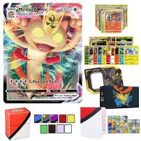 Totem World Pokemon VMAX Card Ultra Rare Guaranteed with 10 Rares 10 Foil Holo, 40 Regular Cards, Totem Deck Box & Mini Binder Collectors Album in Storage Tin or Elite Box