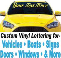 """1060 Graphics 3"""" high Vinyl Lettering (3"""" high x Up to 24"""" Long)"""