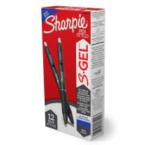 Sharpie S-Gel, Gel Pens, Fine Point (0.5mm), Blue Ink Gel Pen, 12 Count