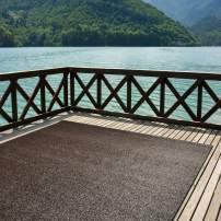 iCustomRug Indoor/Outdoor Turf Rugs and Runners Artificial Grass Many Custom Sizes and Widths Finished Edges with Binding Tape Espresso 4' x 6'