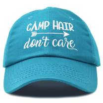 DALIX Camp Hair Don't Care Hat Dad Cap 100% Cotton Lightweight in Teal