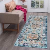Tayse Veriana Multi-Color 2x10 Runner Area Rug for Hallway, Walkway, Entryway, or Foyer - Boho, Medallion