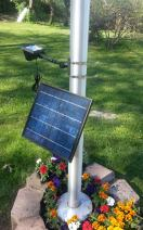 Valley Forge, Flag Pole Light, LED Solar, High-End Commercial Grade, 6 Volt, 12 Ultra Bright LED Light Bulbs, HECSFPL-12