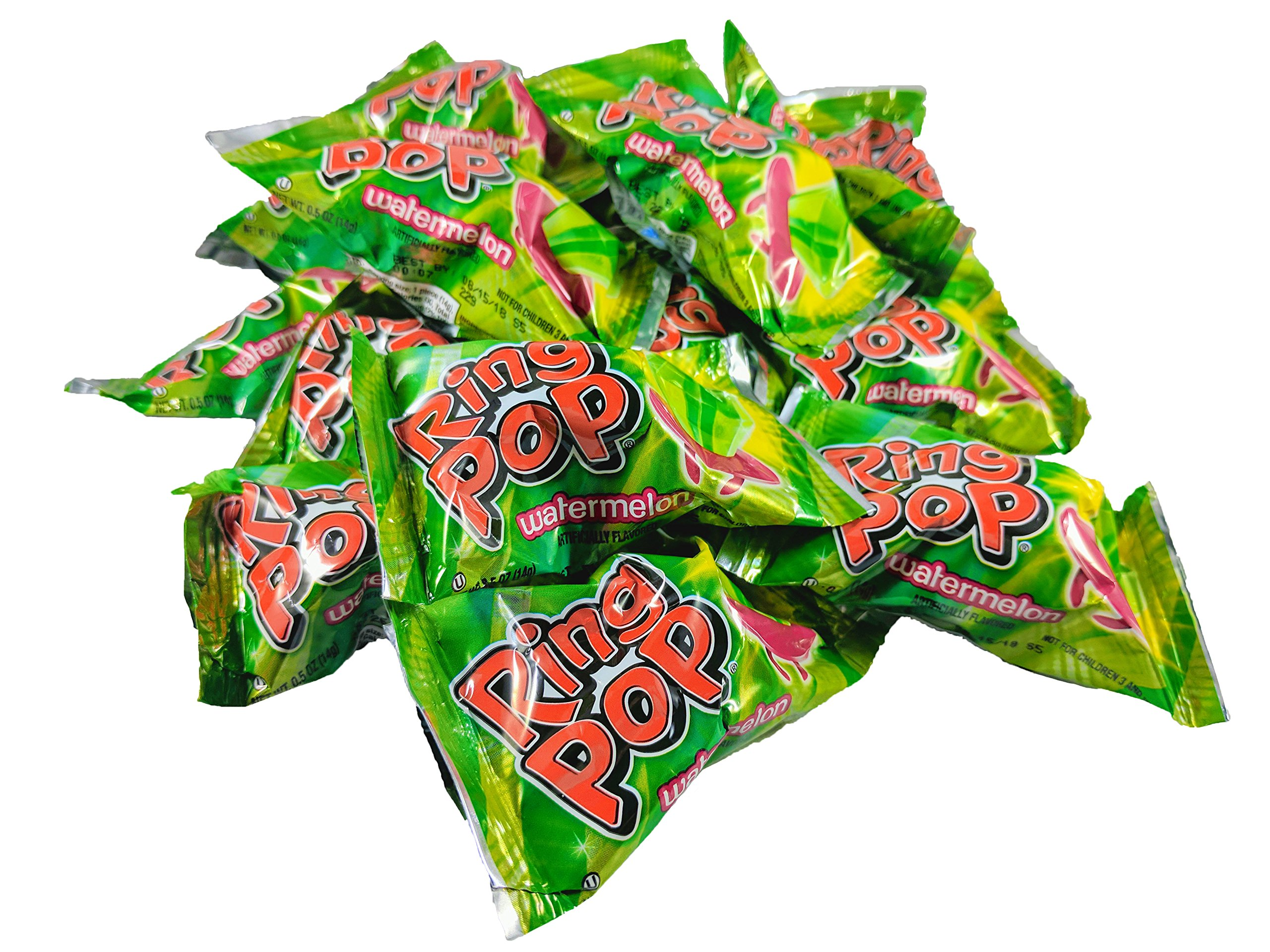 Ring Pop's Individually Wrapped Jewel Shaped Hard Candy (WATERMELON) 20 Piece