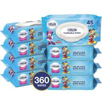 Cottonelle Flushable Wipes for Kids, 8 Flip-Top Packs, 45 Toddler Wipes per Pack (360 Wipes Total)
