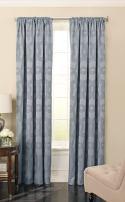 Beautyrest 15779052063SAP Odette 52-inch by 63-Inch Blackout Single Window Curtain Panel, Sapphire