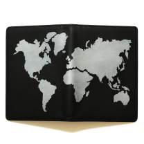 Lethnic Passport Holder, 100% Handmade and Hand-Painted on Genuine Leather with Multiple Functions for Travel (Silver)