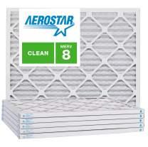 Aerostar 16 1/2x21 5/8x1 MERV 8, Pleated Air Filter, 16 1/2x21 5/8x1, Box of 6, Made in The USA