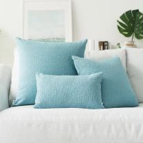 Kevin Textile Spring Decorative Best Soft Velvet Throw Pillow Cover Accent Cushion Cover for Bed, 24x24 inch 1 Pieces,Niagara Blue