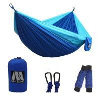"MH ZONE Camping Hammock, Best Lightweight Double Portable Nylon Parachute Backpacking Hammock with Hammock Tree Straps for Travel, Beach or Camping 118""(L) x 78""(W)"