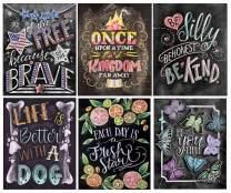 BANGBANGSING 6 Pack Diamond Painting Kits for Adults Kids Set Blackboard Full Drill for Home Wall Decor
