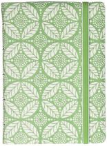 FILOFAX Refillable Impressions Notebook, Pocket, Green and White - 112 Cream moveable pages - Index, pocket and page marker (B115045U)