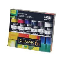 Winsor & Newton Liquitex 101037 2-Ounce Heavy Body Acrylic Paint, 6-Pack, Classic 6