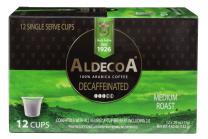 Aldecoa K-Cup Decaffeinated Coffee, 12 Count