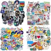 FUNCSDIK 200PCS Graffiti Stickers Waterproof PVC Science School Astronaut Space Stickers for Children, Students, Teens, Laptop, Water Bottle, Phone, Luggage, Skateboard (School Science)
