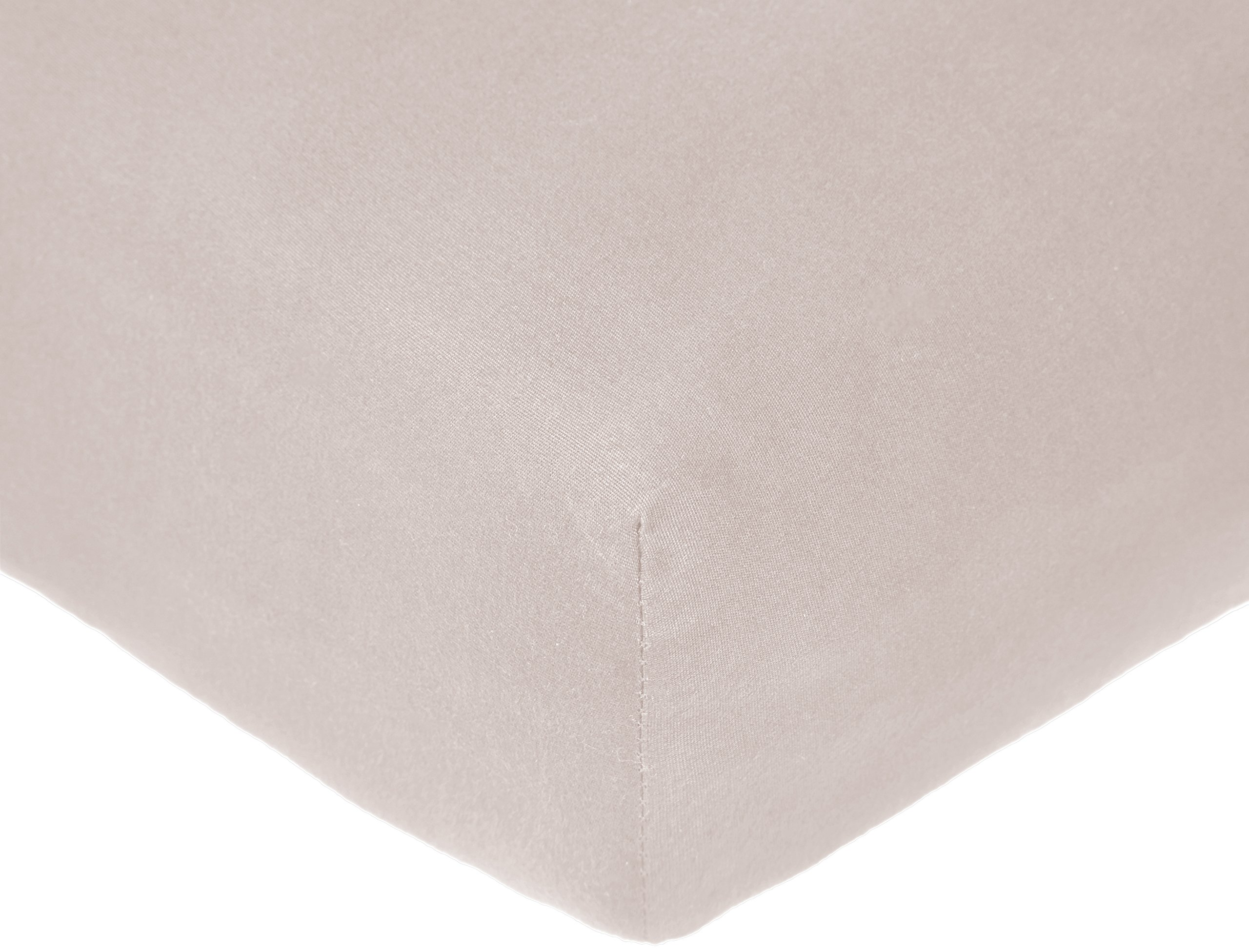 Pinzon 300 Thread Count Organic Cotton Crib Sheet Baby Bedding, Dove Grey
