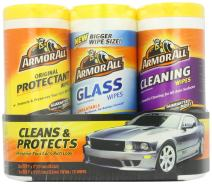 Armor All Car Interior and Glass Cleaner Wipes - Cleaning for Cars & Truck & Motorcycle, 25 Count (Pack of 3), 44983