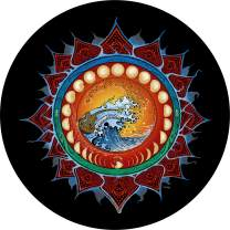 TIRE COVER CENTRAL Moon Phases Wheel Spare Tire Cover (Select tire Size/Back up Camera Option in MENU) Sized to Any Make Model