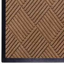 WaterHog Diamond | Commercial-Grade Entrance Mat with Rubber Border – Indoor/Outdoor, Quick Drying, Stain Resistant Door Mat (Medium Brown, 3' x 5')