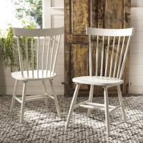 Safavieh American Homes Collection Parker Country Farmhouse Grey Spindle Side Chair (Set of 2)