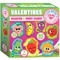 Joyin 35 Pieces Valentines Day Gifts Cards, Valentine's Greeting Cards for Kids with Scratch and Sniff Cards Valentine Classroom Exchange Cards Party Favor - 7 Different Fruit Scents, Envelope Included