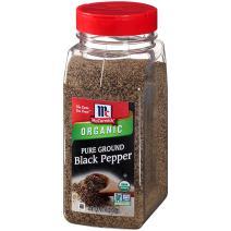 McCormick Fine Ground Black Pepper (Organic, Non-GMO, Kosher), 12 oz