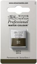 Winsor & Newton Professional Water Colour Paint, Half Pan, Sepia